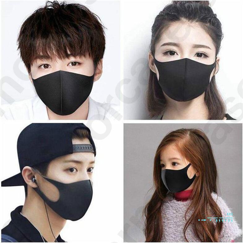 3D Fashion Face Mask Шелковый дышащий тонкие маски для лица Обложка Дети Взрослые пыле Защитная маска Рот моющийся Рот-муфельной 5 цветов D32403