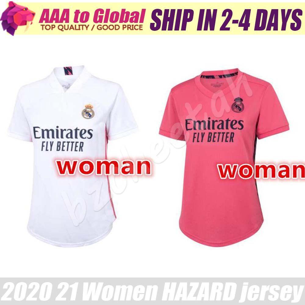 Женщины Реал Мадрид Джерси 2021 Женский ОПАСНОСТИ SERGIO RAMOS BALE Asensio MARCELO трикотажные изделия футбола 20 21 Lady спортивные рубашки
