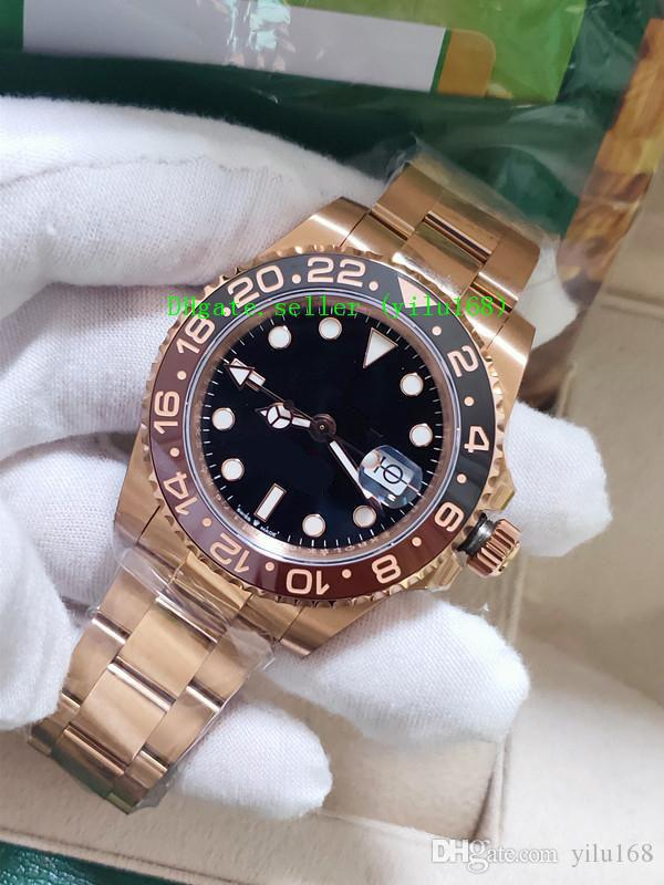 BP 공장 럭셔리 최고 품질 40mm GMT 126715 126711 126711chnr 세라믹 스위스 ETA 2813 무브먼트 자동 망 시계 시계