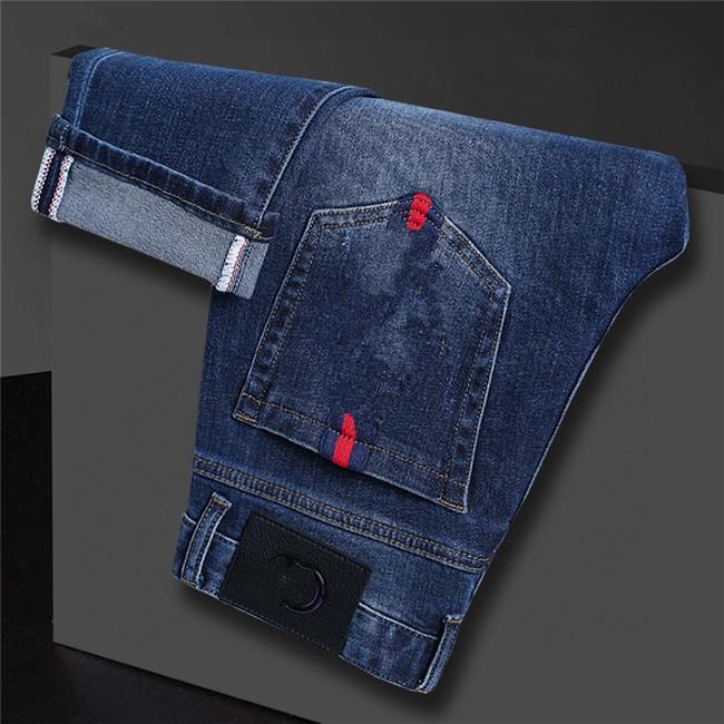 Designer Mens Jeans Luxury Solid Classic Slim-leg Jeans Skinny Fit Blue Biker Denim Men's Fashion Designer Jeans Top Quality W29-W38