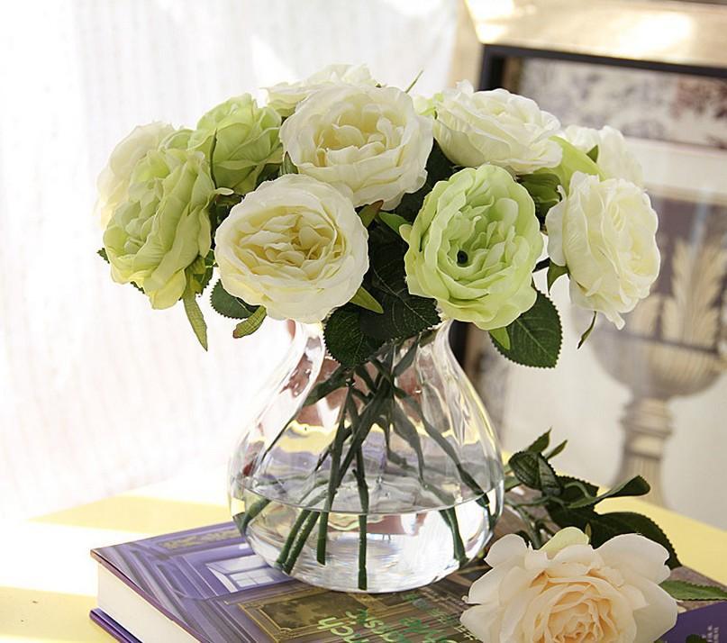 Dekorative Blumen Gefälschte Künstliche Rose Silk Festival Geschenk Valentines Day Geschenke Hochzeit Home Bouquet Party Dekoration