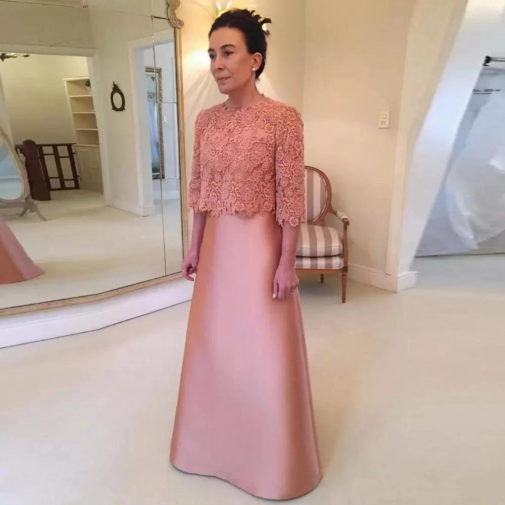 İki Adet Resmi Düğün Konuk Partisi Anne Gelin Elbise Ile Dantel Bolero Kısa Ceket Yarım Kollu Uzun Abiye giyim Annesi Damat