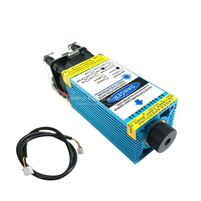 Blue Laser Head 7000MW 10000MW 15000MW desktop diode Laser Module 450NM Focusing for 3018 Engraving Machine Tube