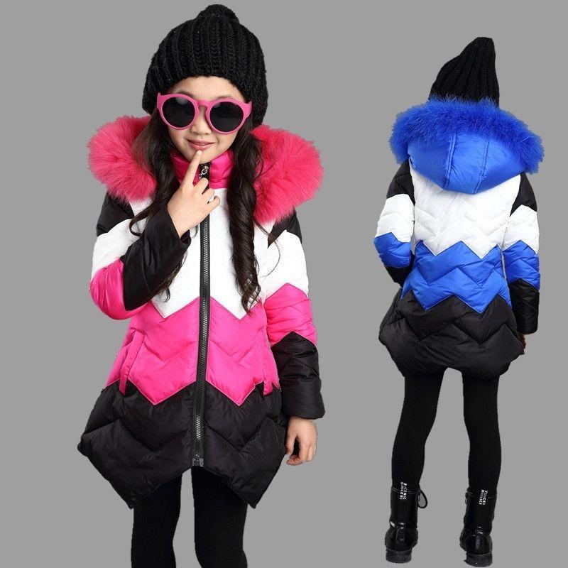 Зимние девушки теплые пальто искусственного меха детские с капюшоном куртка длинное пальто для девушки верхняя одежда для девочек одежда осень девочек 3-12YRS 201031