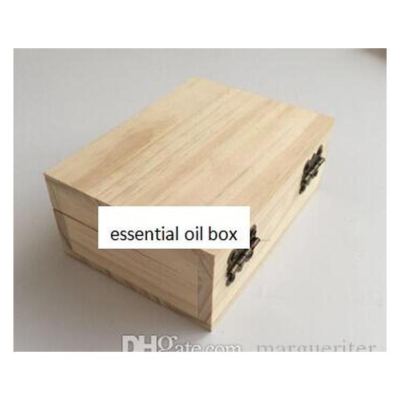 Caixa de armazenamento de óleo essencial de madeira maciça 3 6 10 Grade exibição de óleo essencial ou jllmzl outbag2007