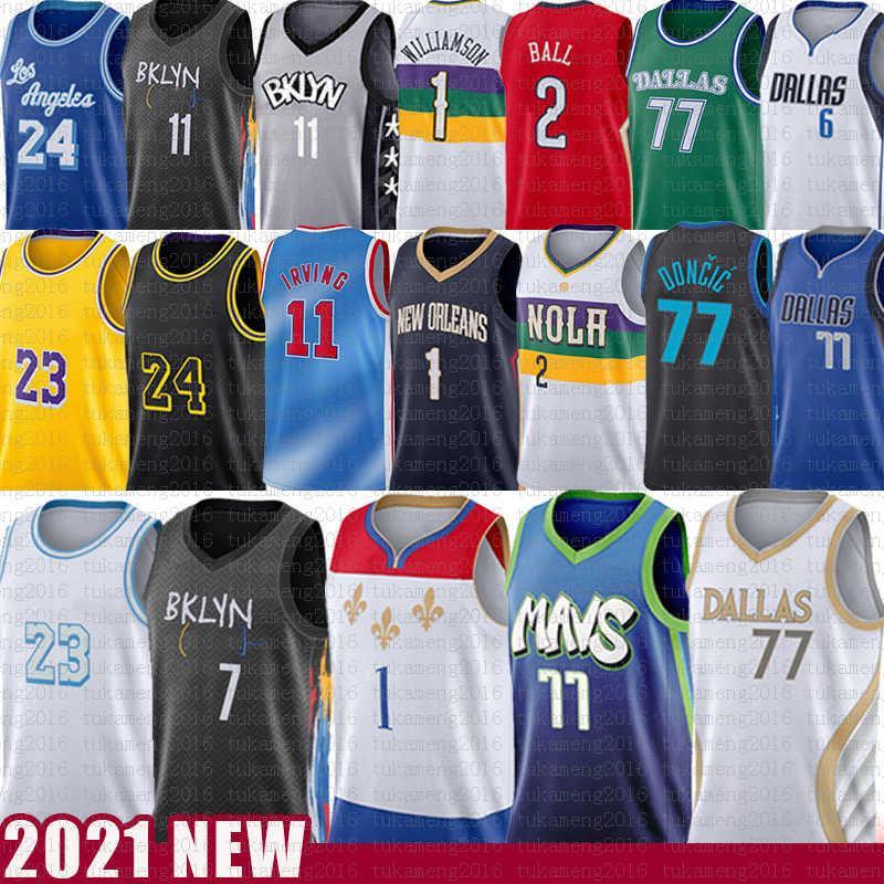 Luka 77 Kevin Sión Doncic Kyrie Williamson Irving Durant Basketball Jersey Lonzo Biggie Ball Kristaps Dirk Porzingis Nowitzki Los 23 Angeles