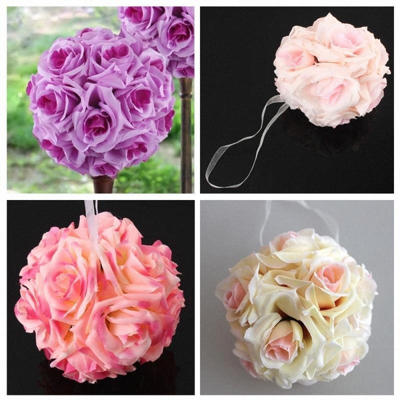 15CM seta artificiale rose fiori Cluster con stelo domestica Wedding del partito della decorazione di DIY Fiore Scrapbook regalo PD4o #
