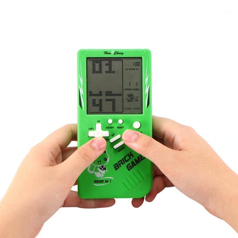 Ретро стиль ручной работы LCD электронные игрушки игрушки весело кирпич игры загадка портативные консоли детей дети подарок для падения доставки1