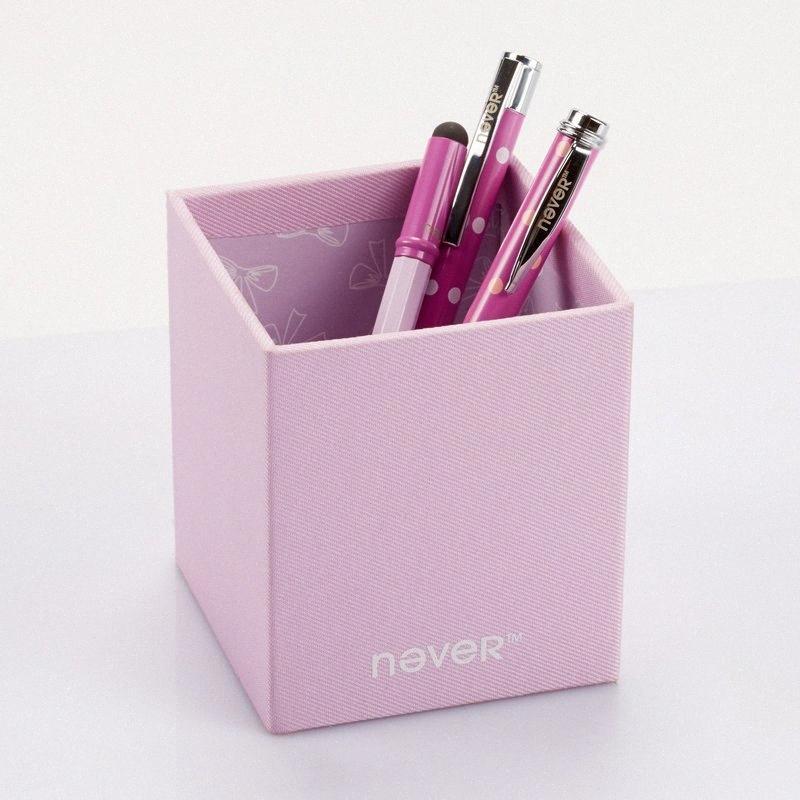 Al por mayor-Nunca titular de la pluma, papelería de oficina, florero lápiz, lápiz de contenedores de cristal, color caramelo, los efectos de escritorio de Navidad, regalos de Navidad # ZE1L
