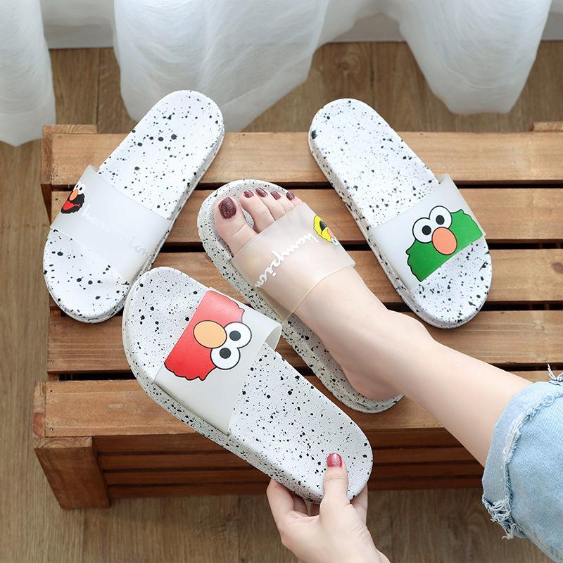 Sandali e pantofole femminili estate net rossa femminile antiscivolo bagno bagno studente tendenza tendenza esterna usura piatta infradito