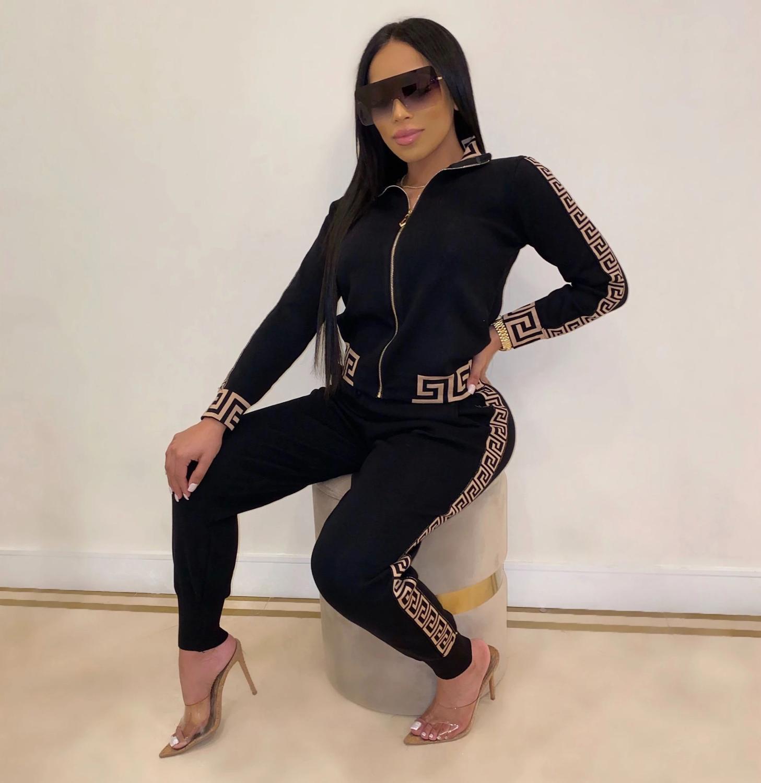 Traje de Dos Piezas Para Mujer, Moda Otoño Invierno 2021