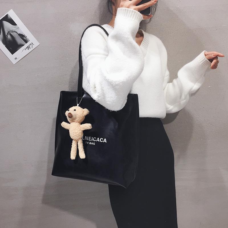 Handtaschen Tasche Qualität 2020 Hohe große Pu Single Koreanische Frauen Taschen Neue Schulter Mode Trendy Leder für Kapazität NEMBV