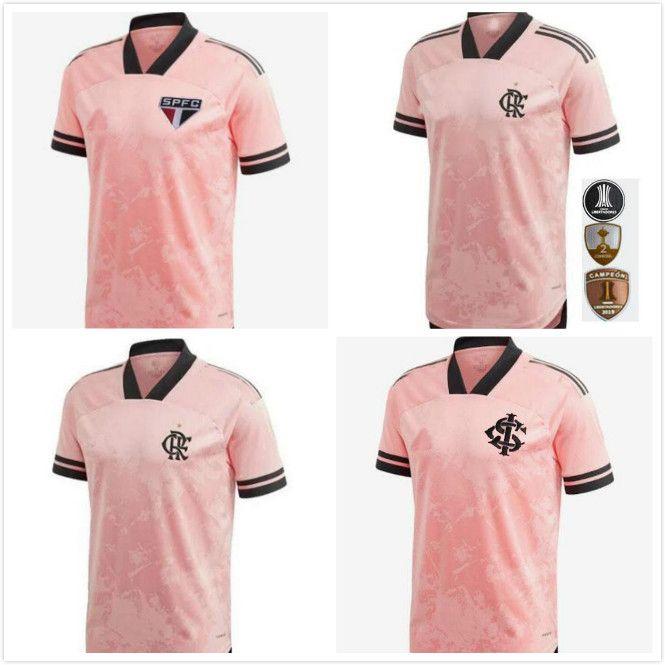 2020 2021 Flamengo Camisetas Brasil Octubre Rosa São Paulo Sao SC SPÉCIAL SPÉCIAL JERSEYS 20 21 Jersey Shirts