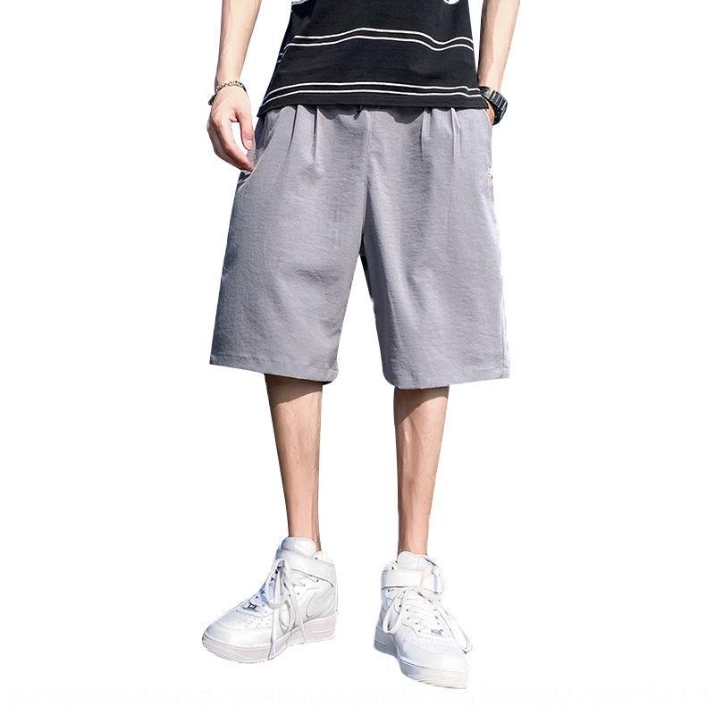 Casual großen losen Männer des Sommers dünne Männer des Overalls kurze, einfache Capris Overall pantssports Hosen Sporthosen EINr4
