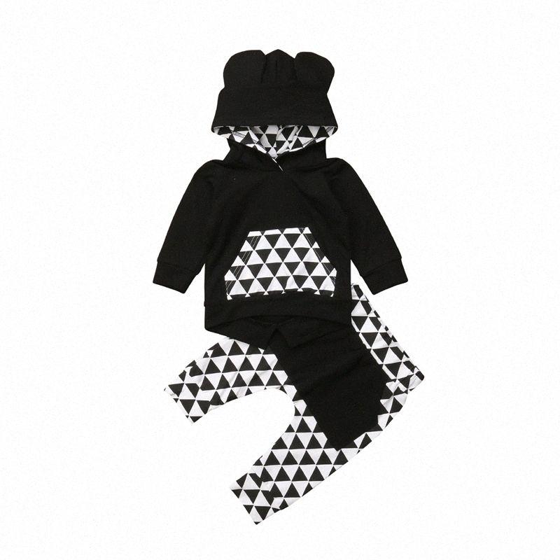 Мода Baby Boy Одежда набор мальчиков с длинным рукавом толстовки Топы брюки спортивные набор новорожденных одежда мальчиков наряды 2018 детская одежда D9DD #
