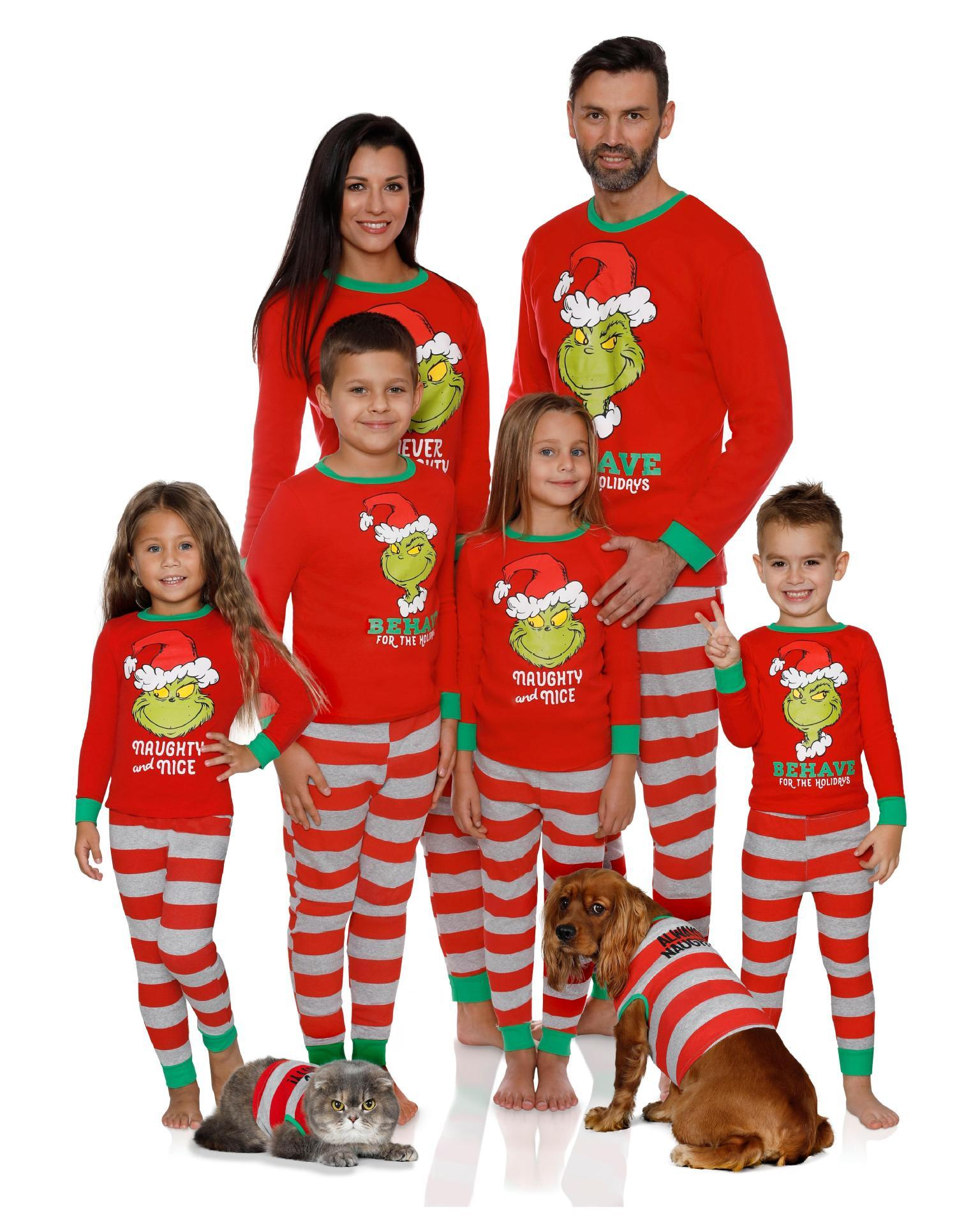 1Colour S-2XL CHRISTMAS 잠 심술 FAMILY MENS LADIES GIRLS BOYS 도모 XMAS PJ SET 40,599,993,611,732