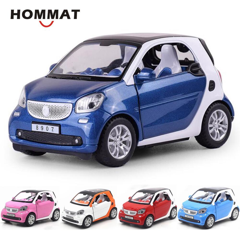 Hommat Smart 1:24 Waage Fortwo Fahrzeug-Modelle Auto Legierung Metall Diecast Spielzeug Simulation Auto Modell Geschenk Autos Spielzeug für Kinder Kinder LJ200930