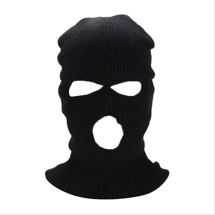 Masque facial masque coupe-vent masques d'extérieur tactique couvreurs respirant balaclava hiver chapeau chaleur chaud chapeau de ski plein masques de visage 3 trous couvre-chef G