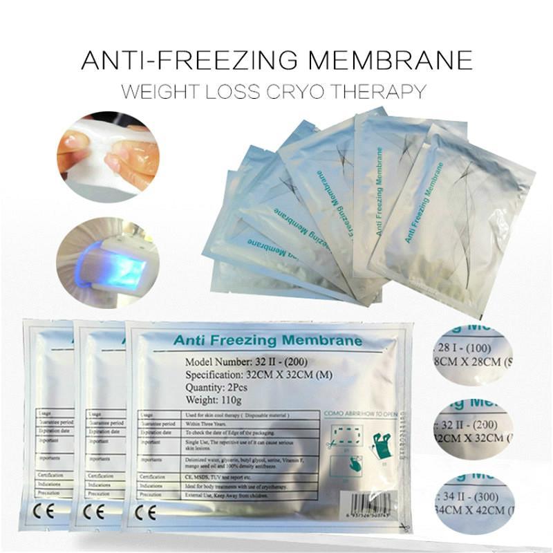 Top Bonne critique 3Size Antigel Membrane anti-gel Membranes Anti gel Membrane Pad froide Poids moins Cryo Therapy Machine