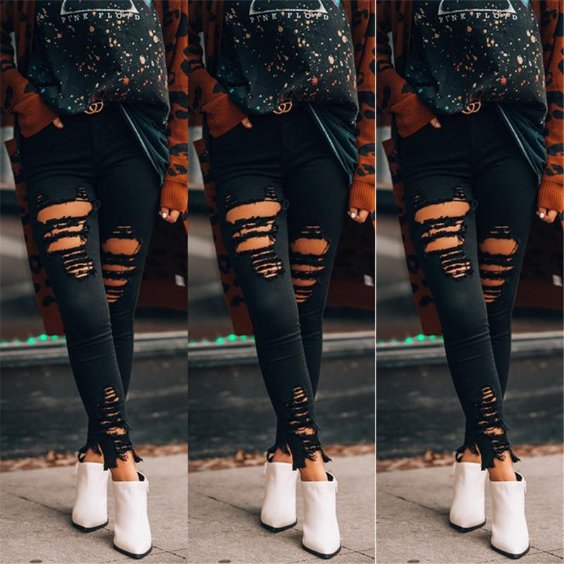 Denim Fashion Girl Jeans Selling Petits pieds Jeans Femmes Casual Denim Pantalon Crayon Stretch Femmes Femmes Slim