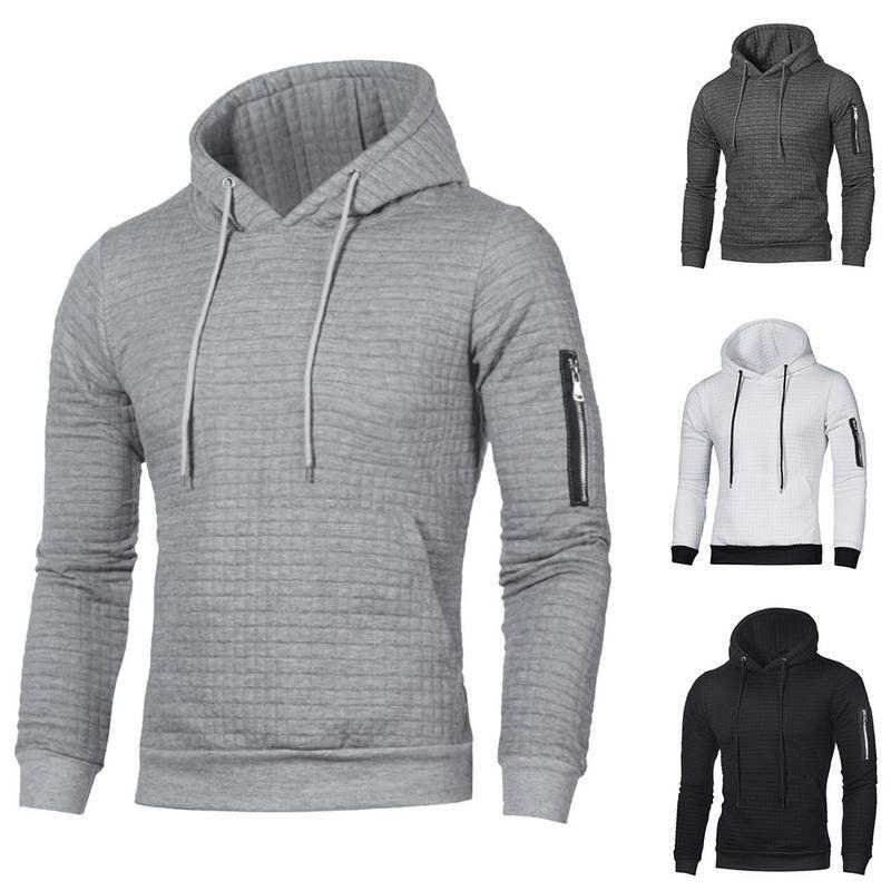 2020 Hoodie Herren Pullover Sweatshirts Pullover Männer Langarm-Hoodie Casual Man Zipper mit Kapuze Street Männlich sudadera hombre