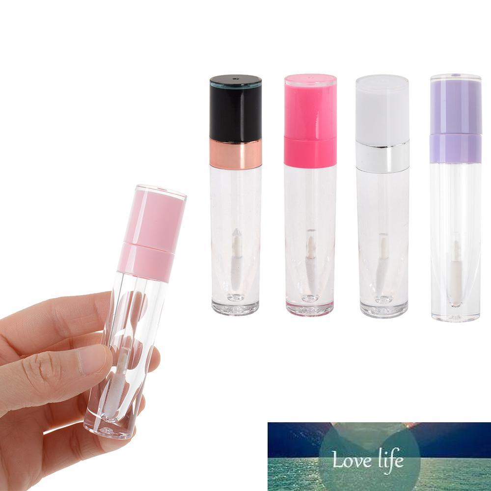 1 Pc Lip Gloss Tube Bouteille vide Baume à lèvres en plastique avec Clear Body Petit Rouge à lèvres échantillons ABS Vials cosmétiques Container Noir
