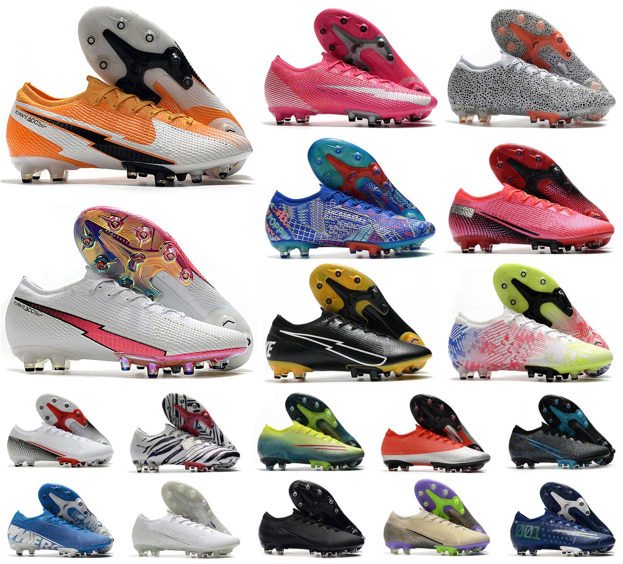 2020 мужчин VA Por XIII Elite AG Low 13 Safari Южная Корея CR7 Roalthdo Neymar 360 Женщин Мальчик Футбол Футбольные Сапоги Обувь Размер 39-45