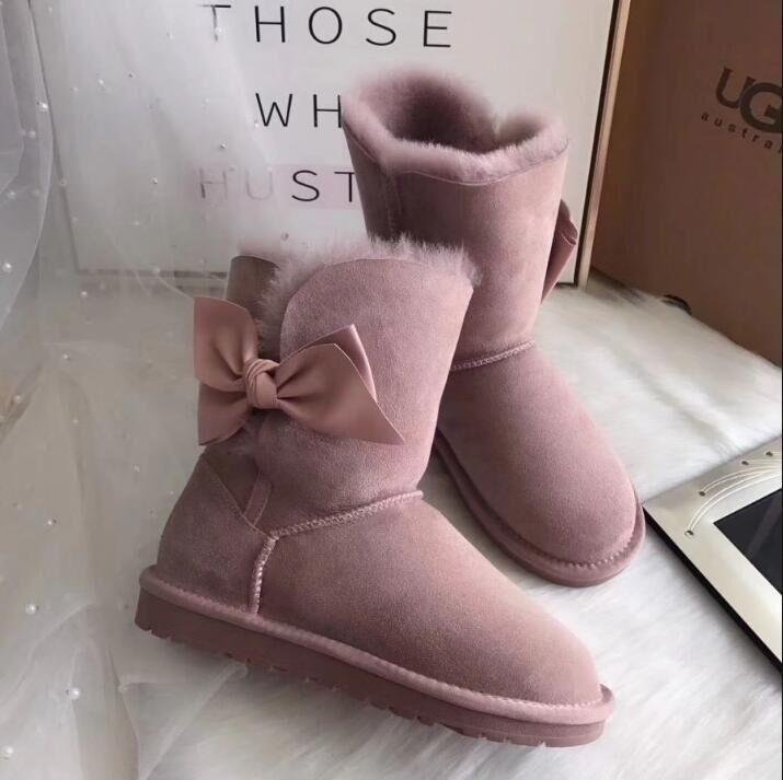 Stivali da donna economici stivaletti da neve classici corta caviglia ginocchio nero grigio marrone rosso rosa rosa blu stivale invernale tenere il calore taglia 36-44