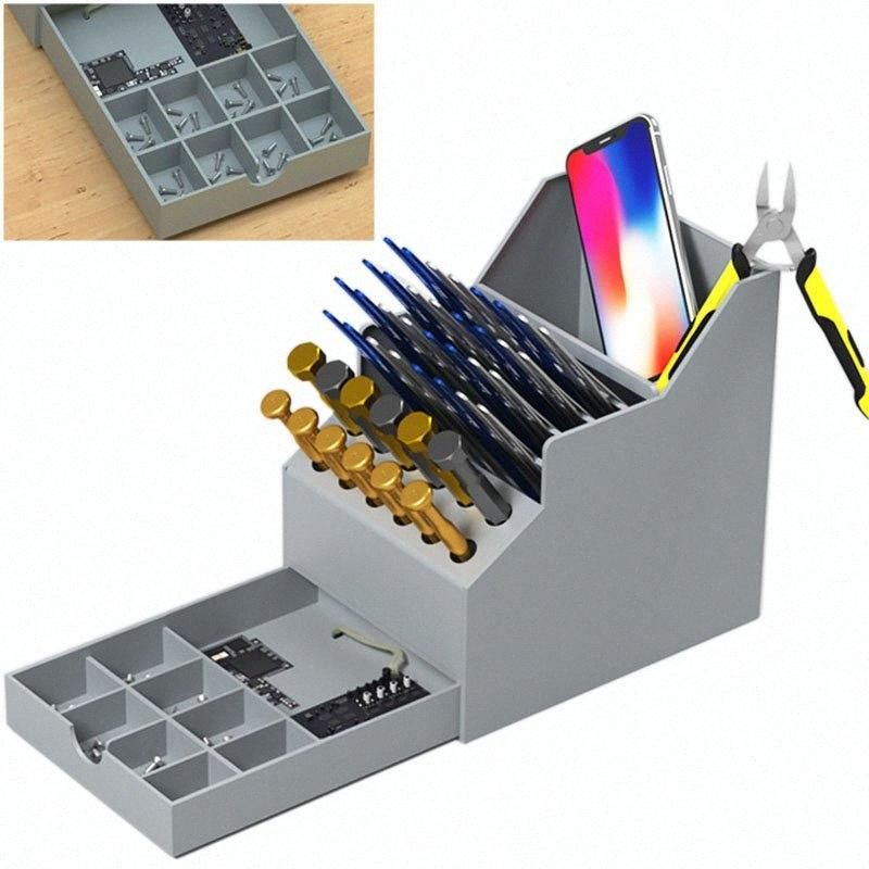 Multifunctional toolbox mobile phone repair desktop finishing storage box Screwdriver parts box with drawer tool 2IKN#