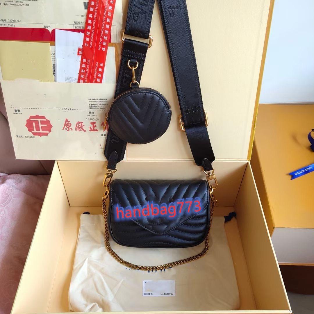 مصمم الكلاسيكية النساء الأزياء حقائب متعددة pochette جديد موجة الكتف حقيبة crossbody حقيبة السيدات 2 قطع محفظة أكياس crossbody حمل محفظة