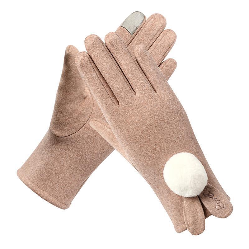 Осенью и зимой взрослых дамы теплые перчатки прекрасных теплые мод термо handschoen пасечники Homme