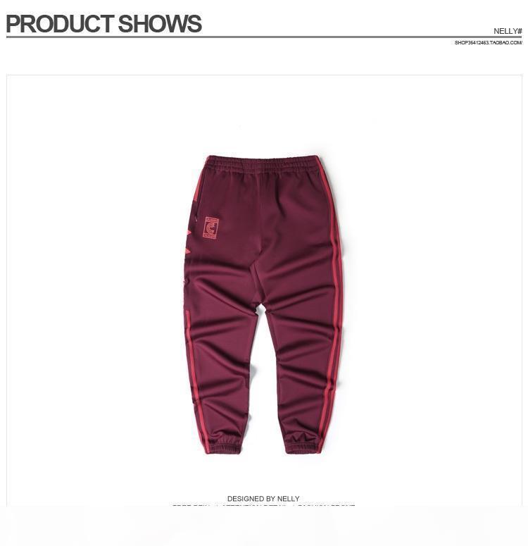 Commercio all'ingrosso- Kanye West Season 4 Girocollo Pantaloni S-3XL Pantaloni Calabasas S-3XL Pantaloni da uomo Joggers Confortevoli uomo comodo Pantaloni elastici Hip Hop