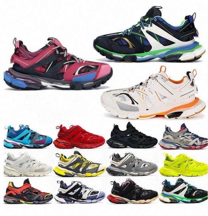 2021 Track 3.0 Newest Athletic Athletic 3m Triple S Zapatos deportivos Comparación Zapatillas de deporte 18ss Shoes Similares Hombres Mujeres Diseñador Tamaño 36-45 B2B4 #
