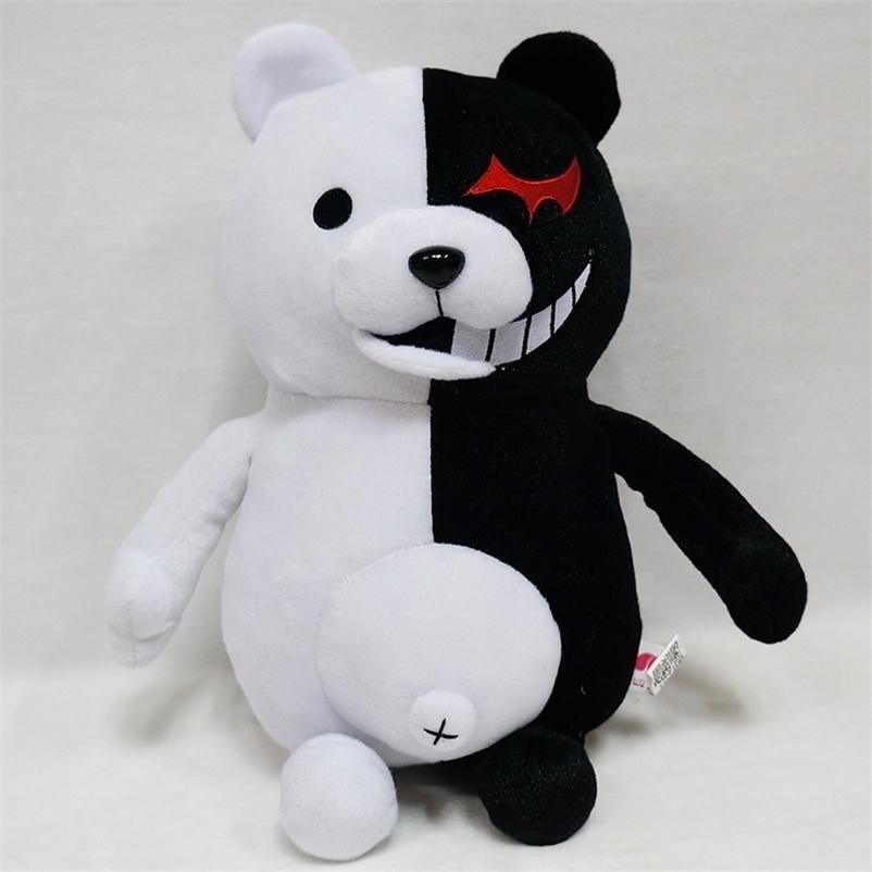 Dangan Ronpa Super Danganronpa 2 Monokuma Negro Branco Barra de Pelúcia Brinquedo Macio Suco de Animais Bonecas de Animais Presente Para Crianças 201222