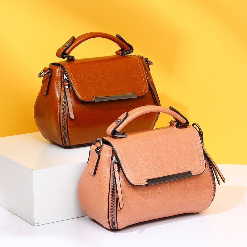 Bolsas pequeñas reales KDWMO Bolsa de mujer Tote Crossbody Handbag Femenino Bolso genuino Cuero Mujer Mujer Bolsos Mujeres Mensajero Rbrdl