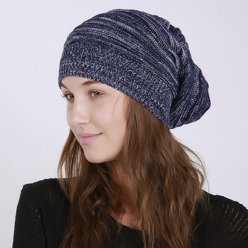 Зимние шапочки Шляпы для женщин Коренастого мягкого кабеля вязать теплую шляпу Череп Cap Рождественского подарка будет и песчаного новым