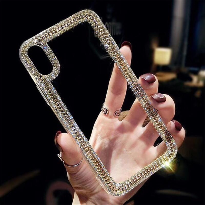 DIY glitter pérola casos de telefone claro para iphone 11 pro max xr xs max x 8 7 6 6s mais capa iphone 12 mini
