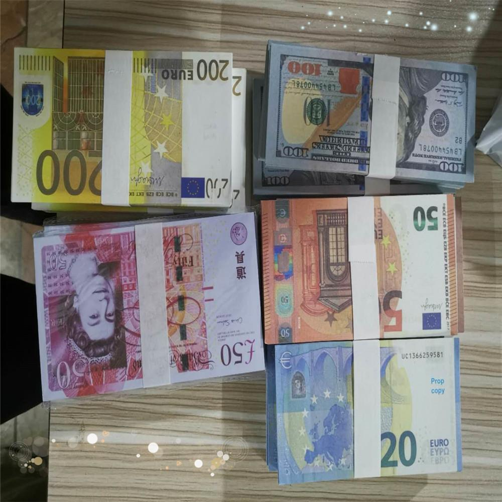 192 Hot sale bar atmosphere props 100 dollars, euro banknotes, movie props, movie money, stage currency