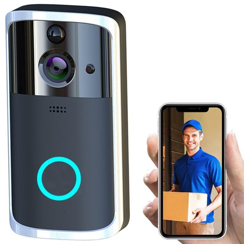 Smart Sonnette caméra HD Wifi sans fil Appel Intercom Vidéo-Eye pour Apartments Sonnette Ring pour téléphone Accueil Caméras de sécurité