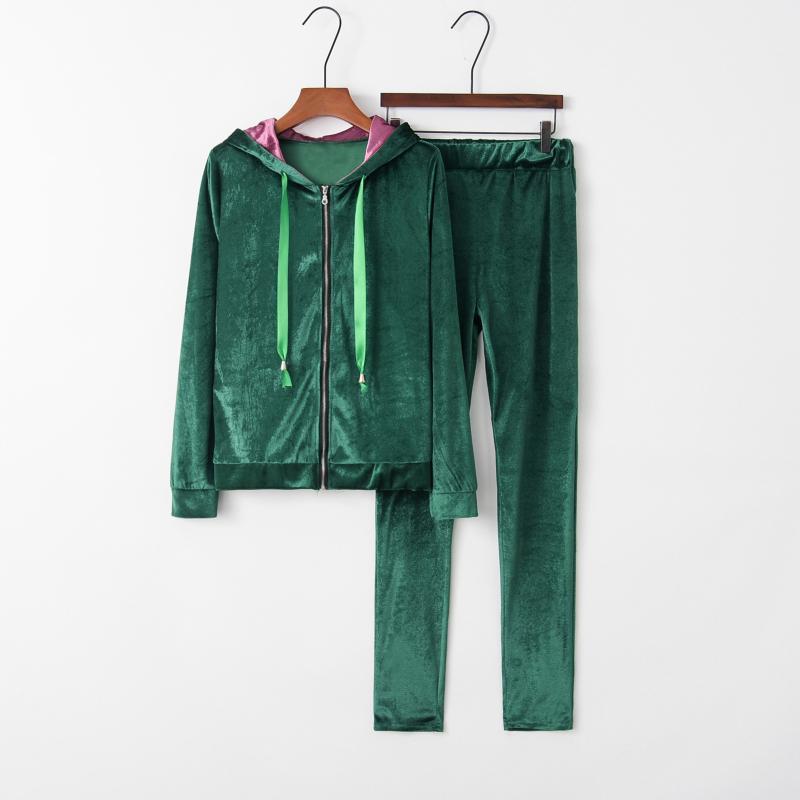 Pijama feminino conjunto de pijama quente pijama pijama de pijama Homewear grosso inverno veludo feminino pijama pijama terno moletom hoodies
