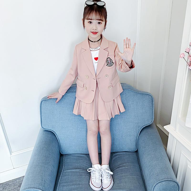Childrenswear Female Autumn CHILDREN'S Business Suit Girls Autumn Clothing New Style Girls Autumn Suit Girls ChildrenswearX1019