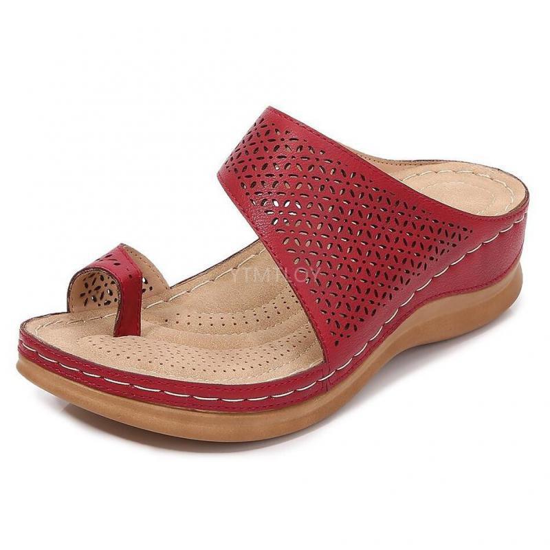 Kadın Sandalet Comfy Platformu Ayakkabı Bayanlar Nefes Hollow Zapatillas Mujer Casa Takozlar Flip Flops Beach Terlik