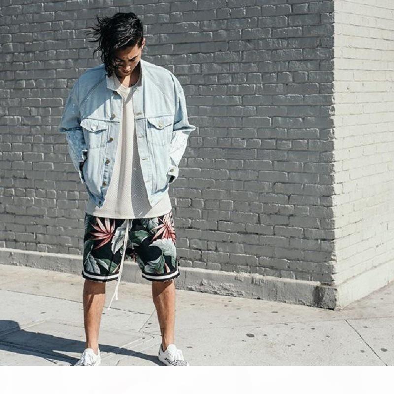 Justin shorts playa playa miedo párrafo dios tiempos bieber pantalones de pantalones cortos de baloncesto hawaii sandy masa niebla ocio mismo diseñador xqobv