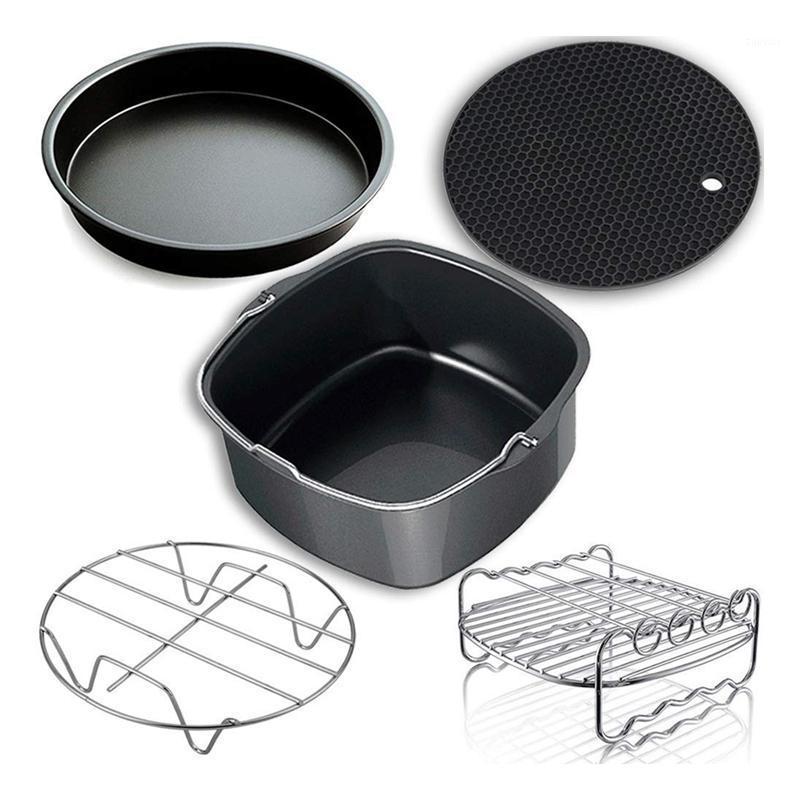 Air Fryers Fritadeira Acessórios, Acessórios e Ajuste para todos os 3.7qt-5.3qt-5.8qt, conjunto de 5-7 polegadas1