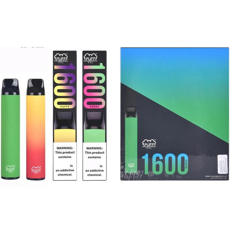 Puff XXL 1600 puff descartável vape kit canotas pods barras folhadas xxl vape caneta puffbar xxl vaporizador eletrônico cigarro descartável vape