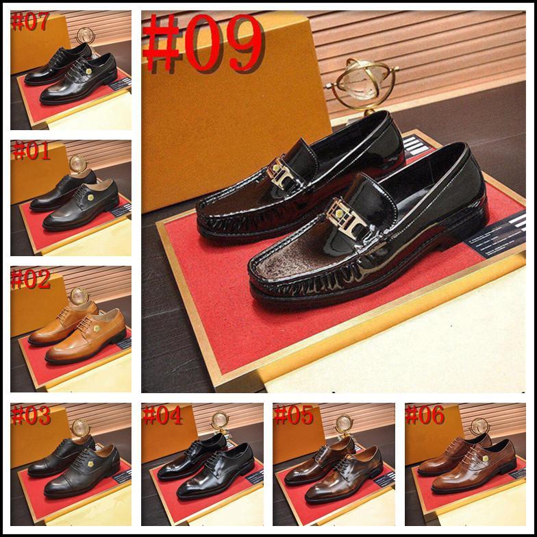 Hommes de luxe Hommes Robe Chaussures En Cuir Bureau Business Mariage Main Métallée Couleur Mixte Brogue Formel Toile Toile Oxford Mens Chaussure
