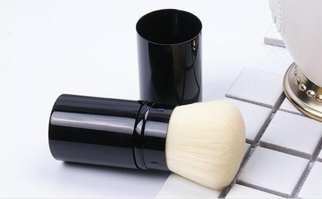 قابل للسحب استحى مسحوق ماكياج فرشاة قابل للسحب kabuki فرشاة مع مربع التجزئة حزمة واحدة أدوات التجميل العلامة التجارية فرشاة dhl سفينة