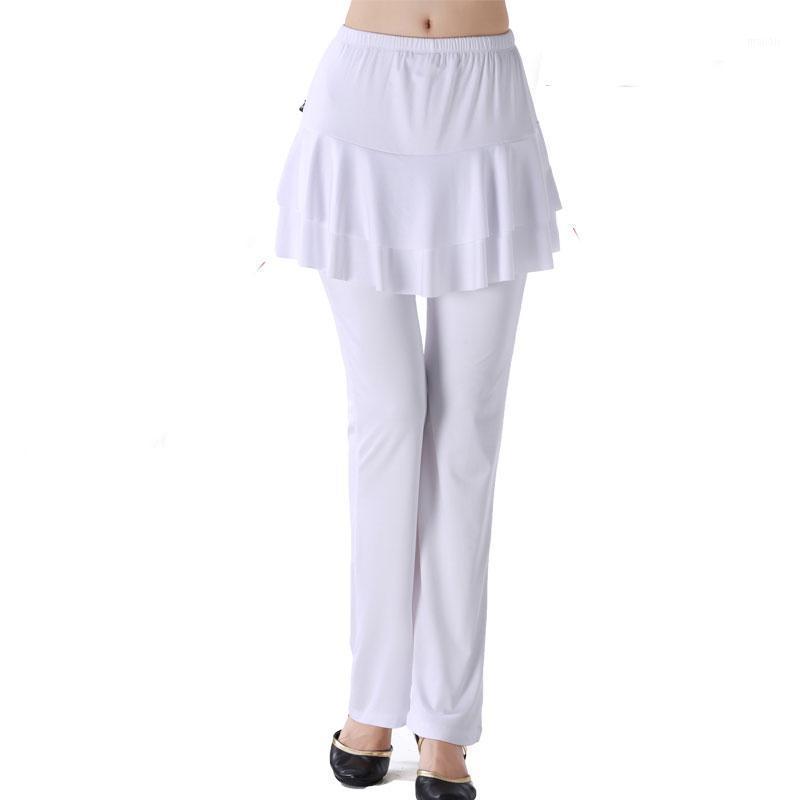 Pantaloni da ballo Bianche Biancheria Dancing Dancing Dancing BellyDance Egitto Pant Pant Adult Formazione Pantaloni Dance Pantaloni da ballo Gonna Tribal1