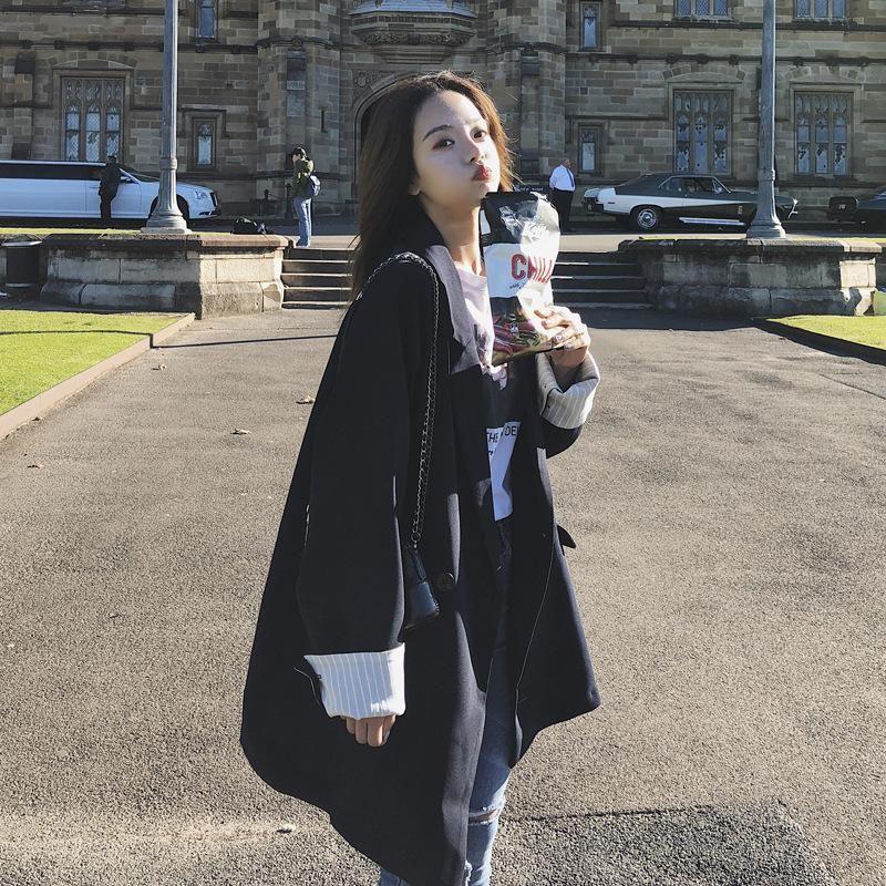 U-SWEAR 2020 Новое прибытие женщин вскользь Blazer одной кнопки Длинная линия Полный Рукав Мягкий Женский Опрятный Стиль костюм пальто