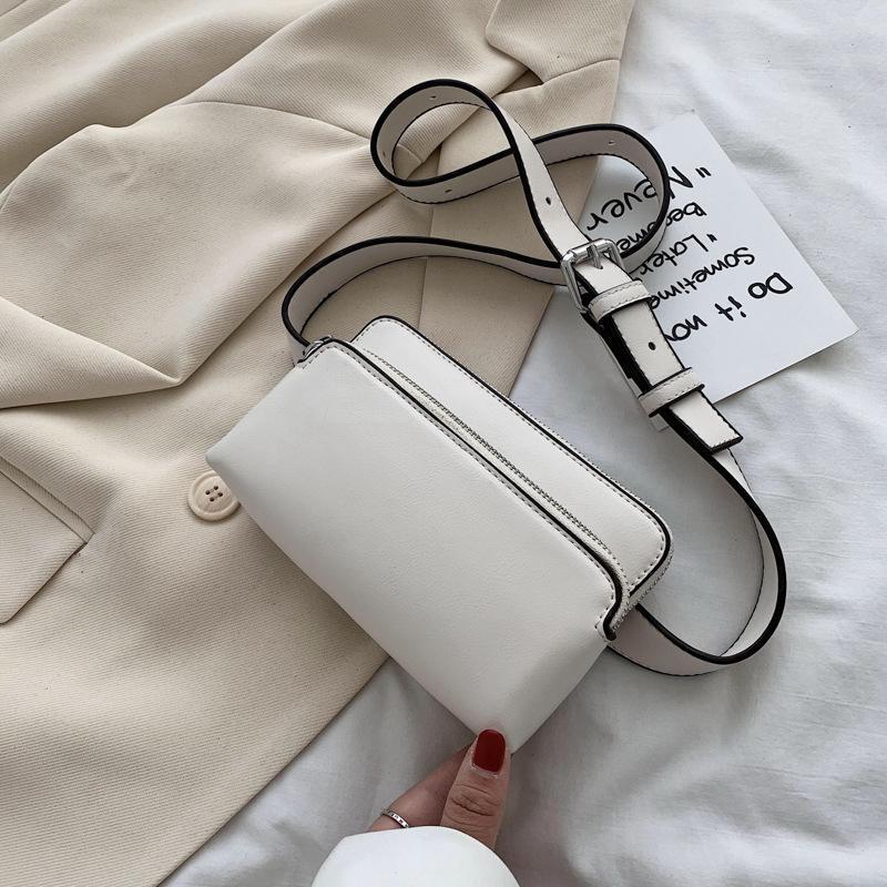 Sentido de diseño Bolsa de mujer Bolsos Bolsas Pequeñas Plaza PU Cuero Fanny Pack Bananka Mensajero Banda de vientre Cintura
